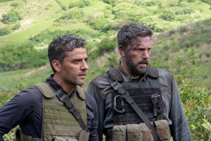 "Oscar Isaac and Ben Affleck in ""Triple Frontier"" on Netflix."