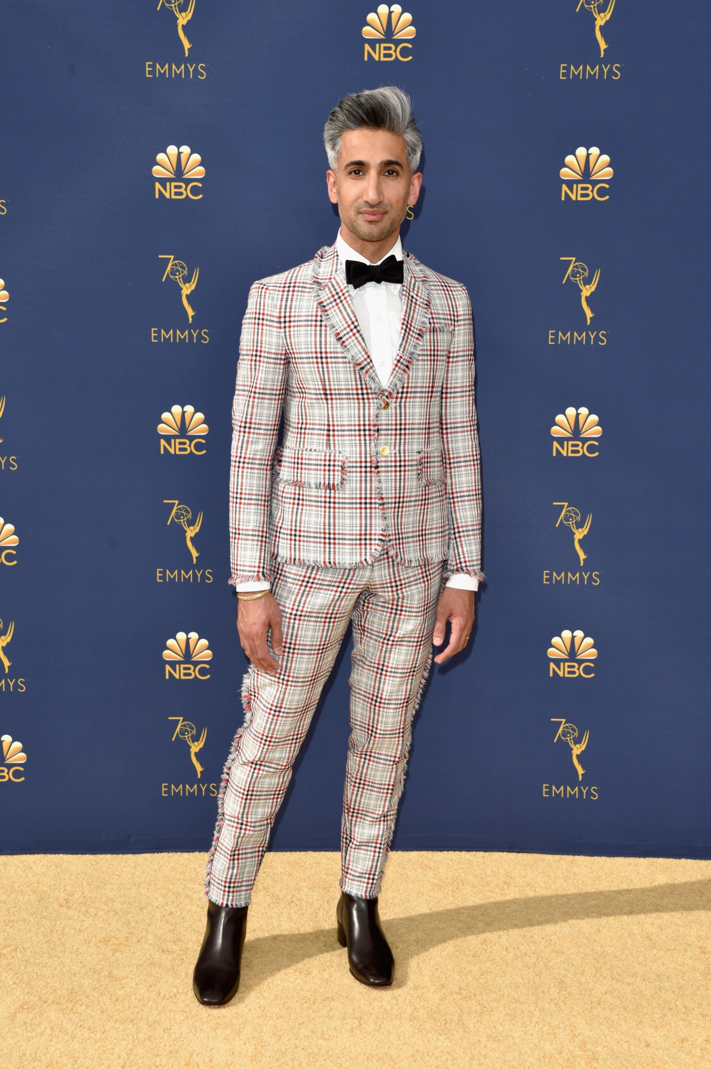 "Tan France said of his Thom Browne suit: ""I think it's a look that I'll look back on in 20 years time and think, 'That was a good choice. It was a bold choice, but it was a good choice."""