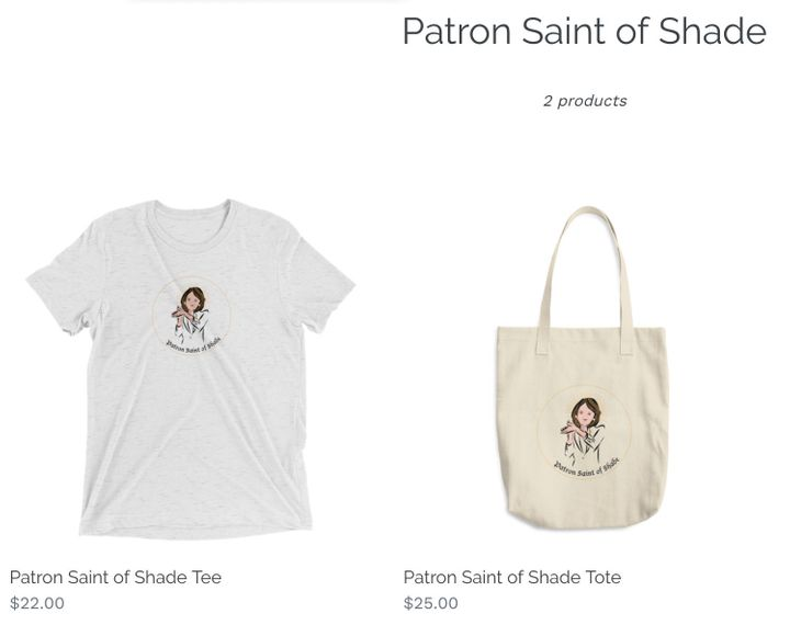 House Speaker Nancy Pelosi'scongressional campaign website is selling T-shirts and tote bags with illustrations of her