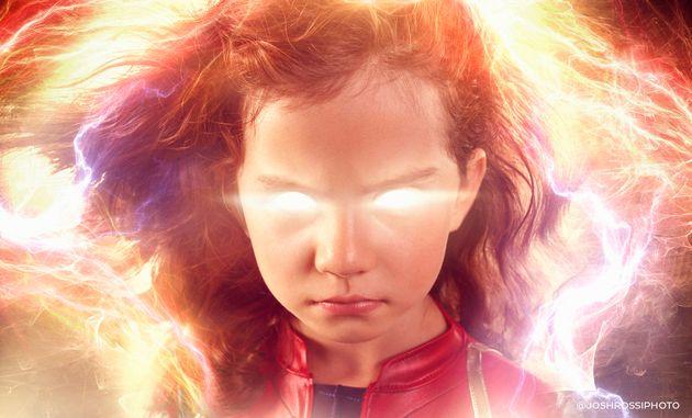 Dad Transforms Daughter Into Captain Marvel In Epic