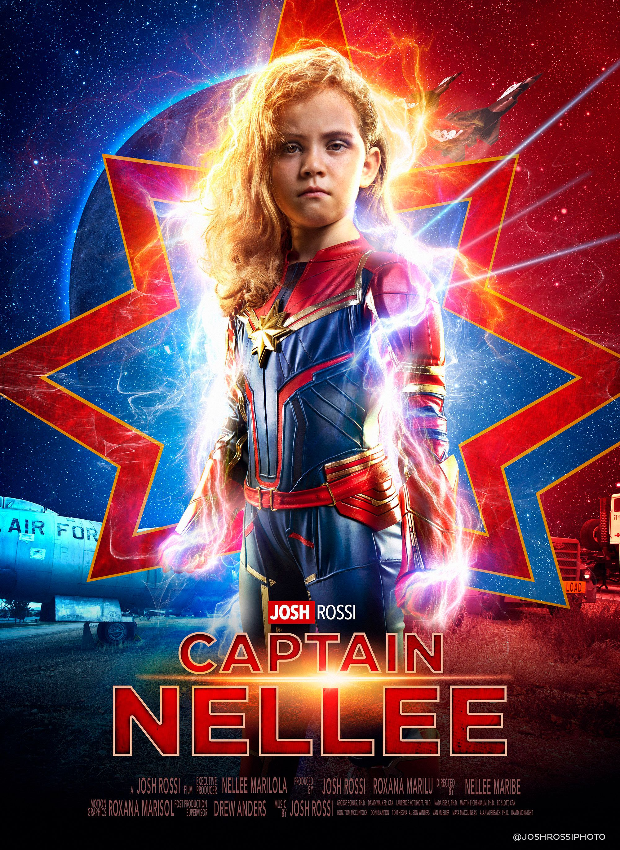 """Rossi organized a """"Captain Marvel""""-themed photo shoot for Nellee."""