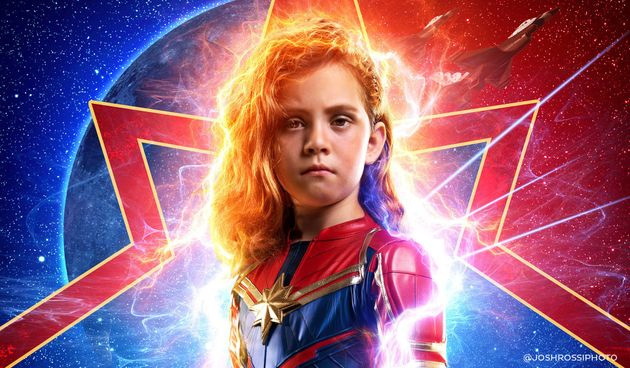 Dad Transforms Daughter Into Captain Marvel In Epic