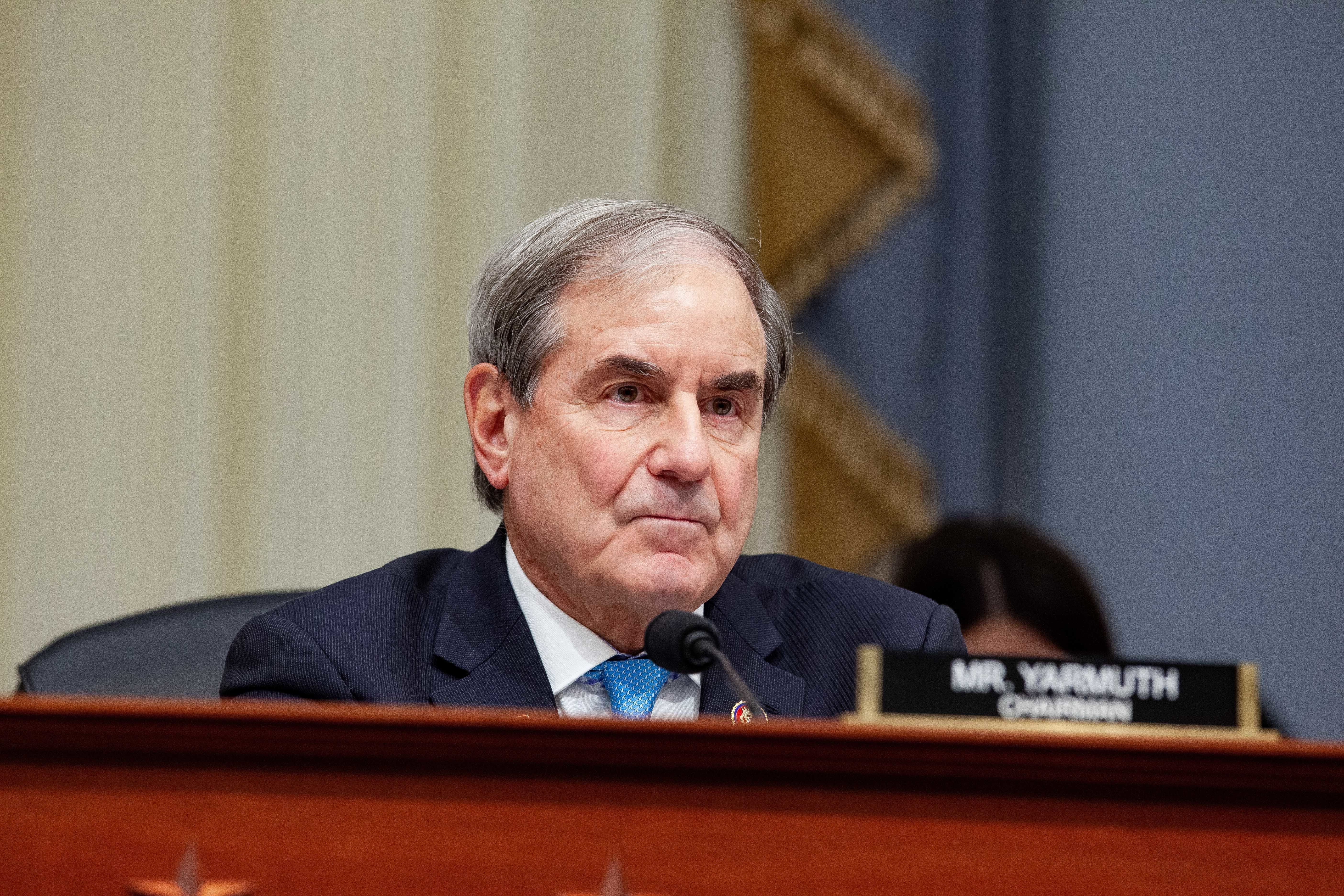 Representative John Yarmuth, a Democrat from Kentucky and chair of the House Budget Committee, listens during hearing with Russell Vought, acting director of the Office of Management and Budget (OMB), not pictured, in Washington, D.C., U.S., on Tuesday, March 12, 2019. President Donald Trump will propose a U.S. budget that wouldn't balance for 15 years, even assuming stronger economic growth than private forecasters expect and with deep domestic spending cuts that have little chance of passing Congress. Vought said in a statement the proposal 'embodies fiscal responsibility' and 'shows that we can return to fiscal sanity without halting our economic resurgence.' Photographer: Anna Moneymaker/Bloomberg via Getty Images