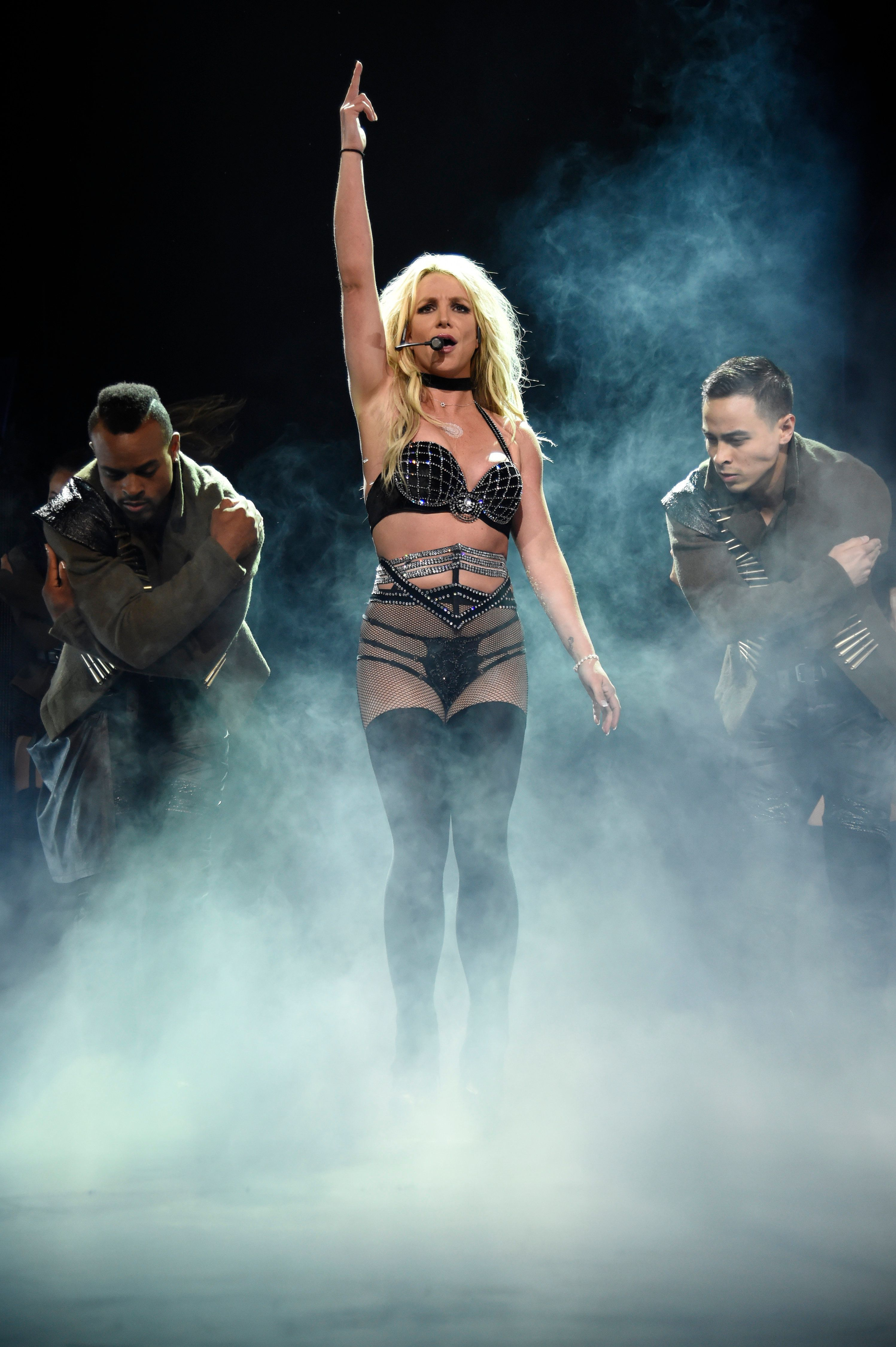 """Britney Spears performs during her """"Piece of Me"""" tour in Las Vegas."""