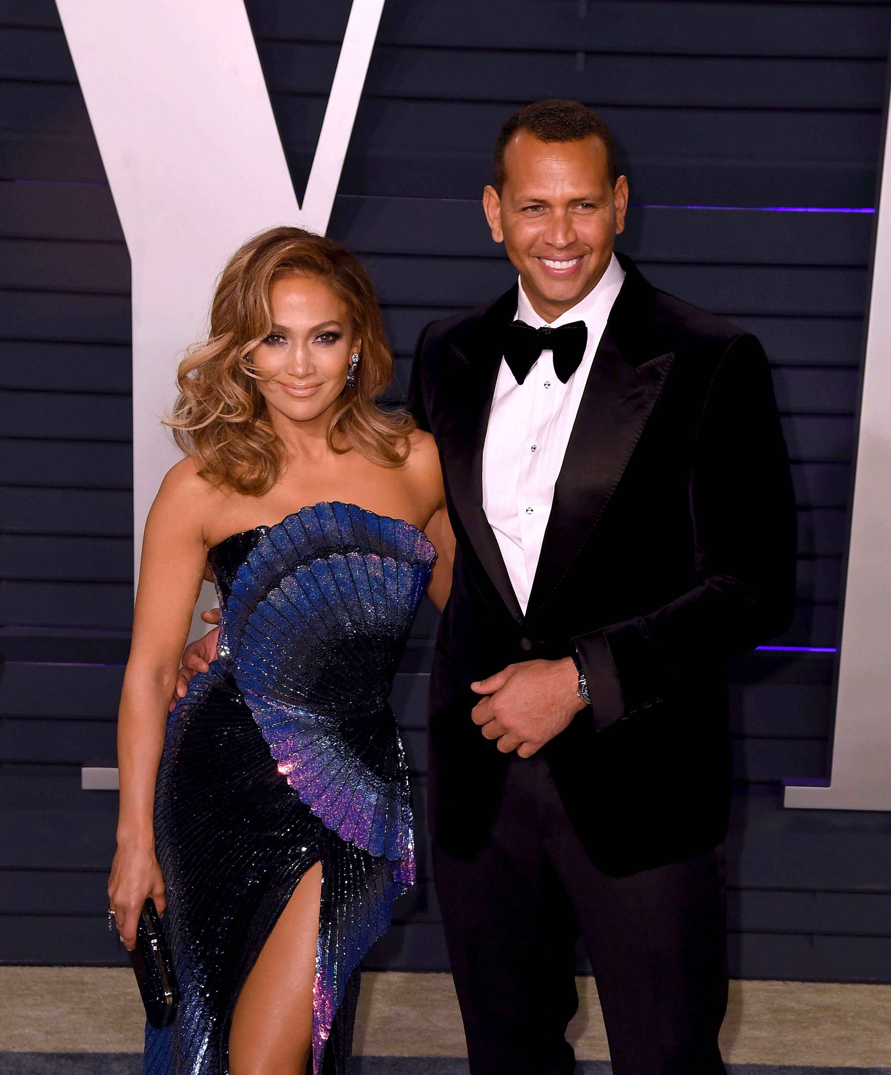 BEVERLY HILLS, CALIFORNIA - FEBRUARY 24: Jennifer Lopez and Alex Rodriguez attends 2019 Vanity Fair Oscar Party at Wallis Annenberg Center for the Performing Arts on February 24, 2019 in Beverly Hills, California. Photo: imageSPACE /MediaPunch /IPX