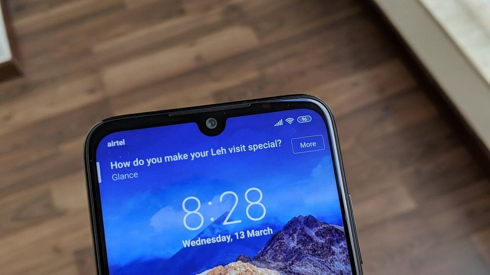 The Redmi Note 7 Pro comes with a teardrop cut-out