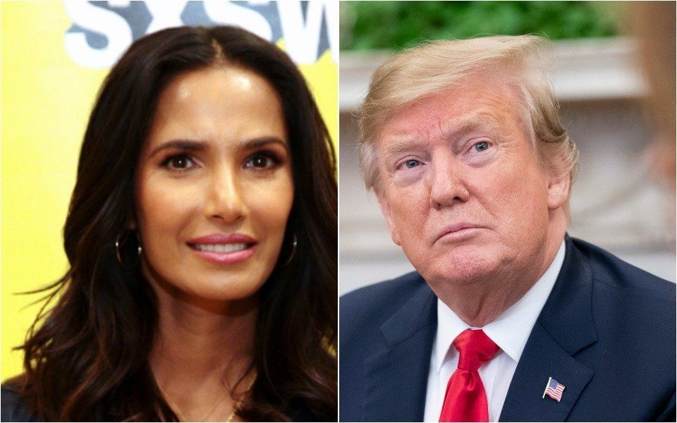 Padma Lakshmi and Donald Trump