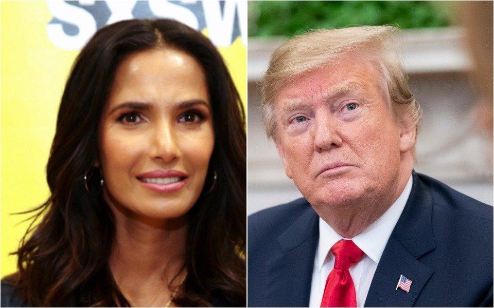 Padma Lakshmi and Donald Trump