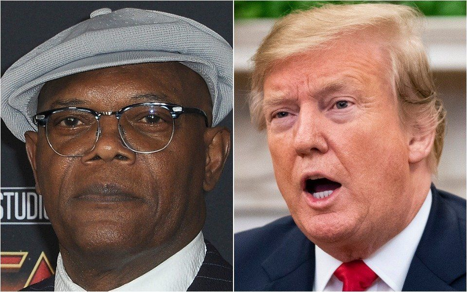 Samuel L. Jackson and Donald Trump