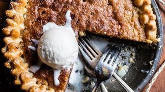 Get the Gooey Chocolate Chip Cookie Pie recipe from Half Baked Harvest