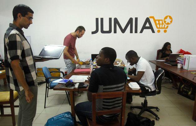 Des employés de Jumia à Abdijan, en Côte