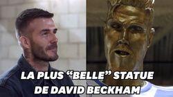 Beckham piégé par une statue de lui aussi ratée que celle de