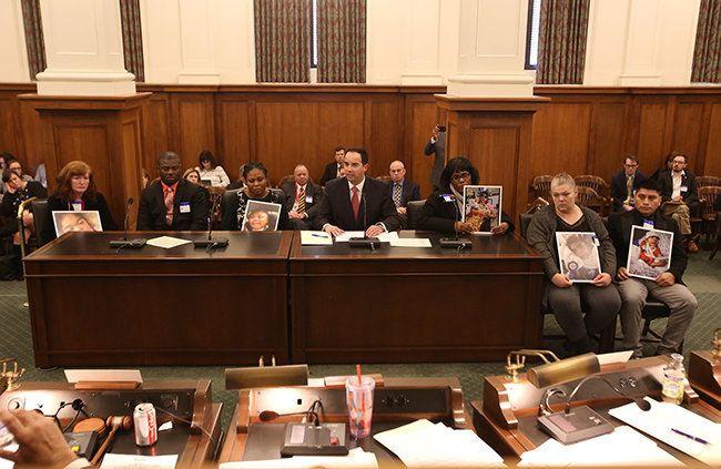 Paul da Costa, center, testifies on behalf of the parents whose kids got sick after an adenovirus breakout at the Wanaque Cen