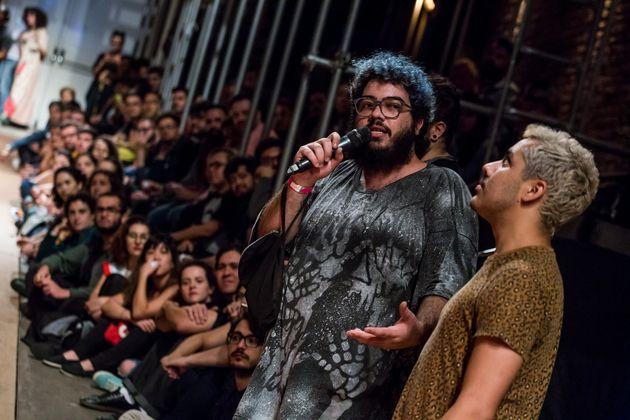 Iran Giusti, jornalista e idealizador da Casa 1, em evento do projeto realizado no Teatro Oficina, na...