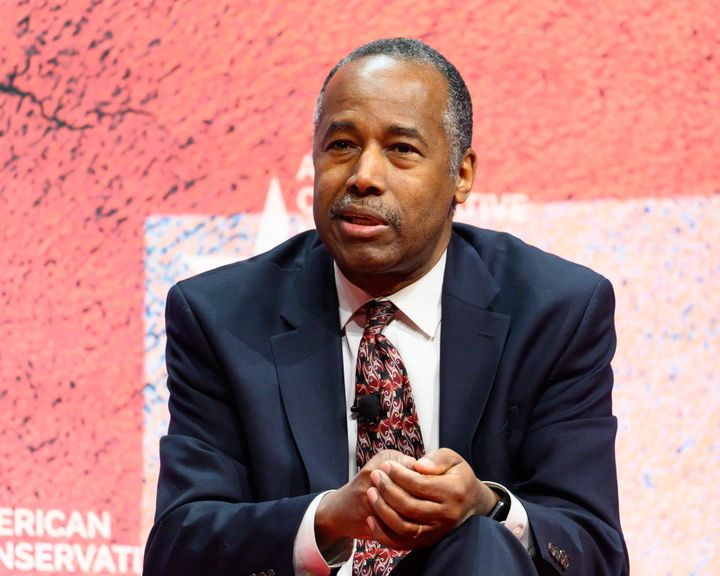 Housing and Urban Development Secretary Ben Carson at the Conservative Political Action Conference in National Harbor, M