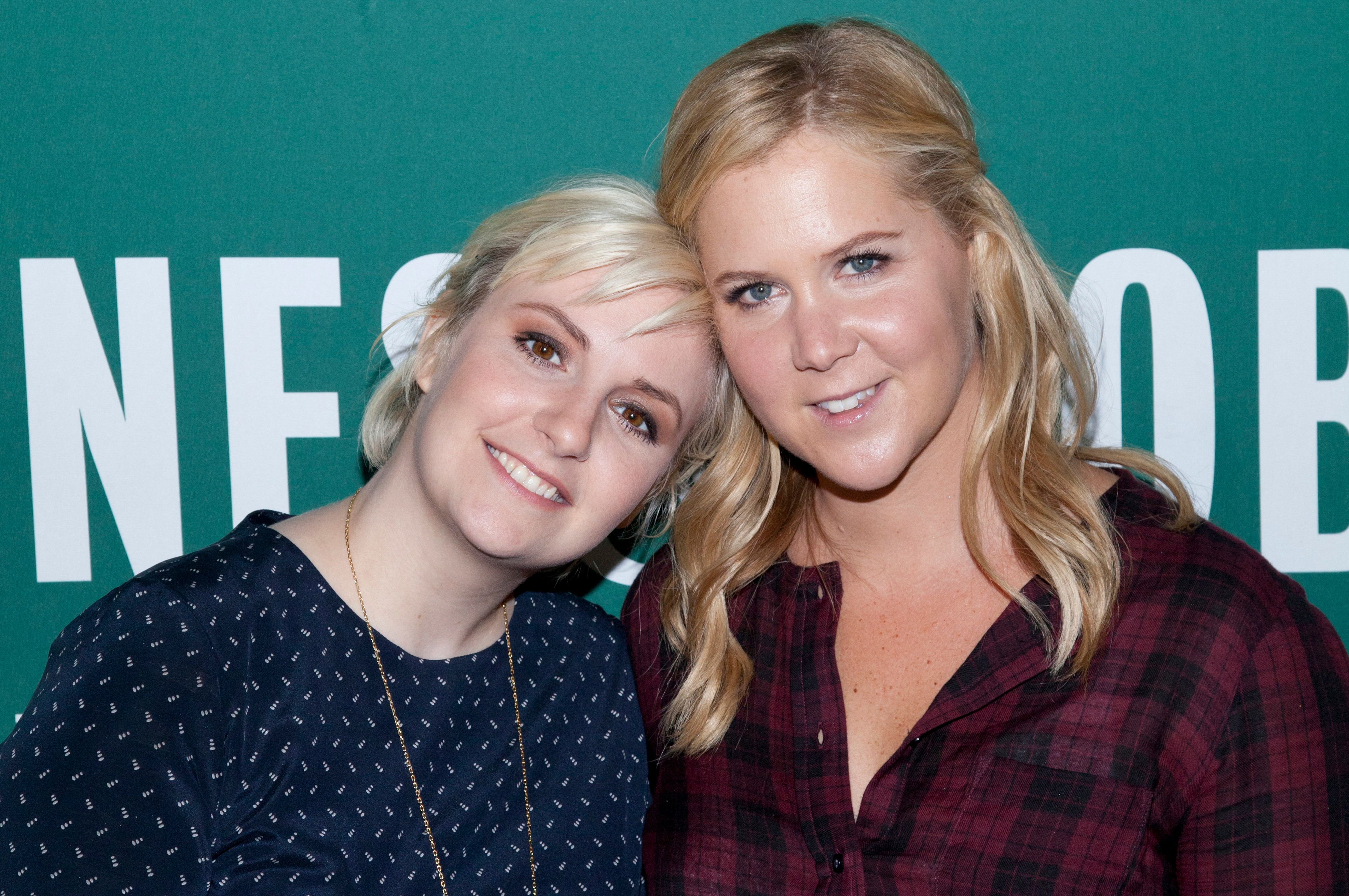 Lena Dunham and Amy Schumer attend the <i>Not That Kind of Girl</i> book signing.&#8221;> </p> <p> <span aria-label=