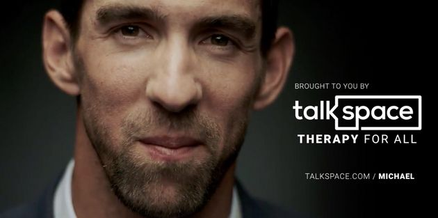 Olympic swimmer Michael Phelps appears an ad for the online and mobile therapy company