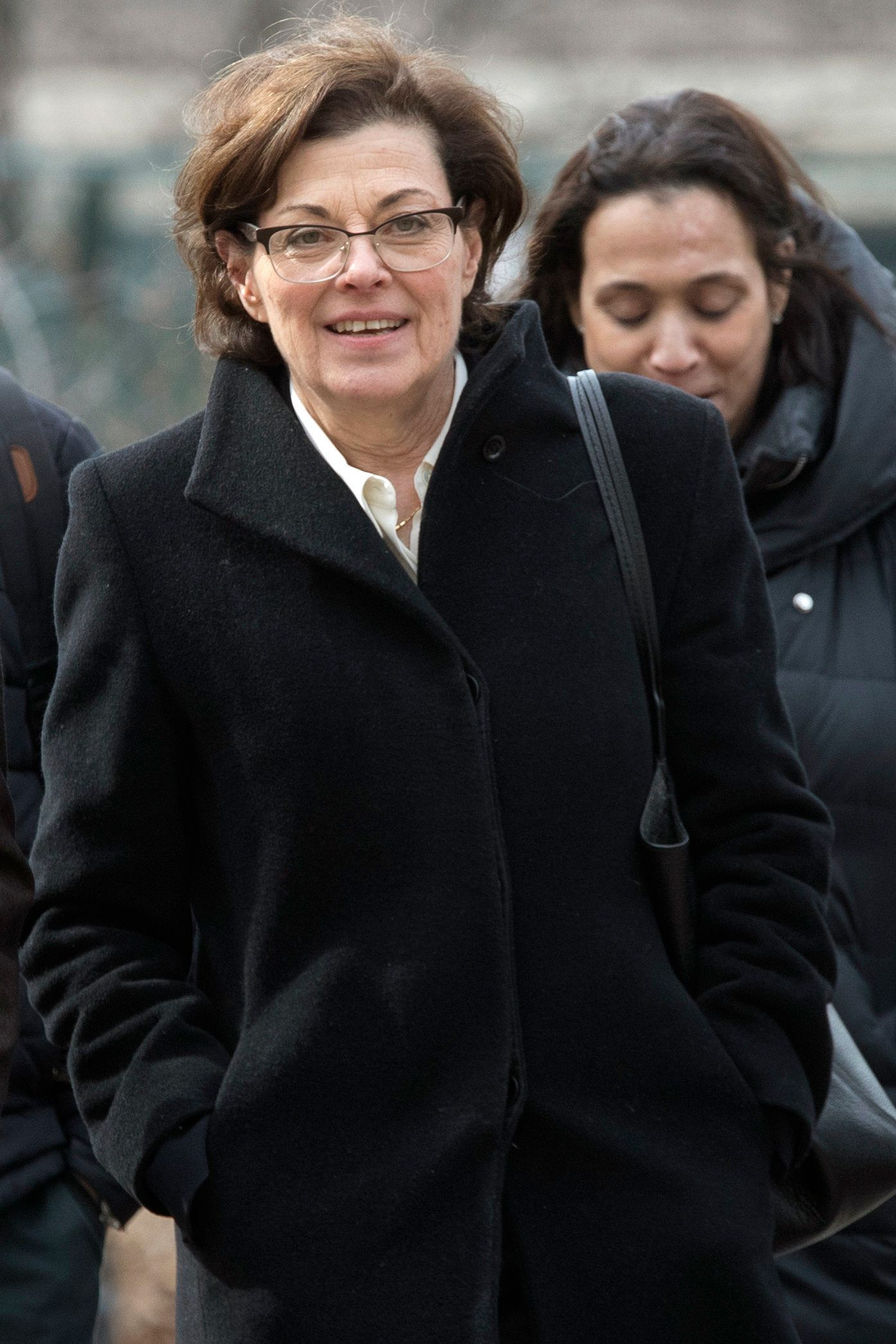 Nancy Salzman arrives at Brooklyn federal court, Wednesday, March 13, 2019, in New York. Salzman, a co-founder of NXIVM, an embattled upstate New York self-help organization, is expected to plead guilty in a case featuring sensational claims that some followers became branded sex slaves. (AP Photo/Mary Altaffer)