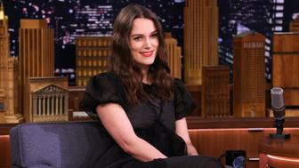 THE TONIGHT SHOW STARRING JIMMY FALLON -- Episode 1028 -- Pictured: Actress Keira Knightley during an interview on March 12, 2019 -- (Photo by: Andrew Lipovsky/NBC/NBCU Photo Bank via Getty Images)