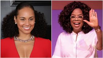 Alicia Keys, Oprah Winfrey (Getty Images)