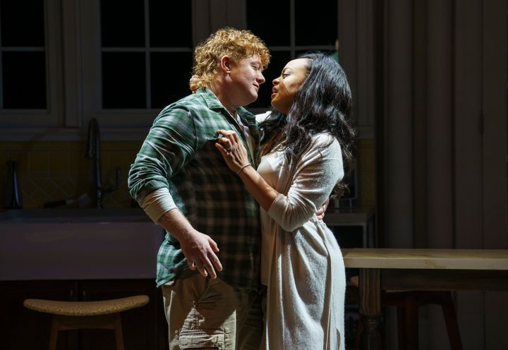 """Becca Blackwell (left) andMichelle Beck star in """"Hurricane Diane,""""now playing at New York Theatre Workshop."""