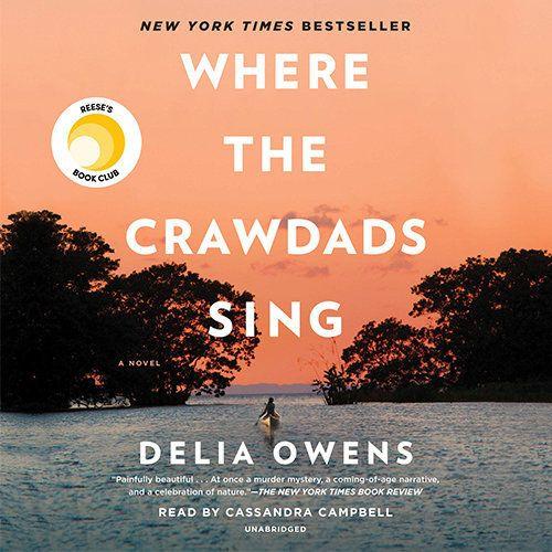"Delia Owens' debut novel, <a href=""https://www.audible.com/pd/Where-the-Crawdads-Sing-Audiobook/B07FSNSLZ1"" target=""_bl"