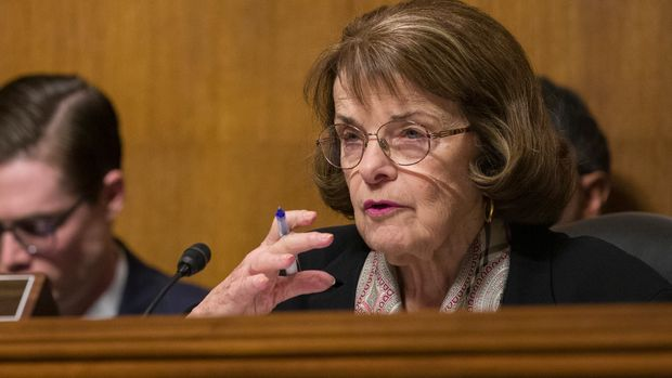 Senate Judiciary Committee ranking member Sen. Dianne Feinstein, D-Calif., speaks during a hearing of the Senate Judiciary Committee on oversight of Customs and Border Protection's response to the smuggling of persons at the southern border, Wednesday, March 6, 2019, in Washington. (AP Photo/Alex Brandon)