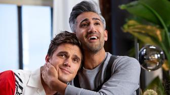 "Antoni Porowski and Tan France in ""Queer Eye"" on Netflix."