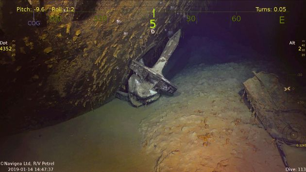 空母「ワスプ」を深海で発見。故ポール・アレン氏の調査チーム(動画・画像集)