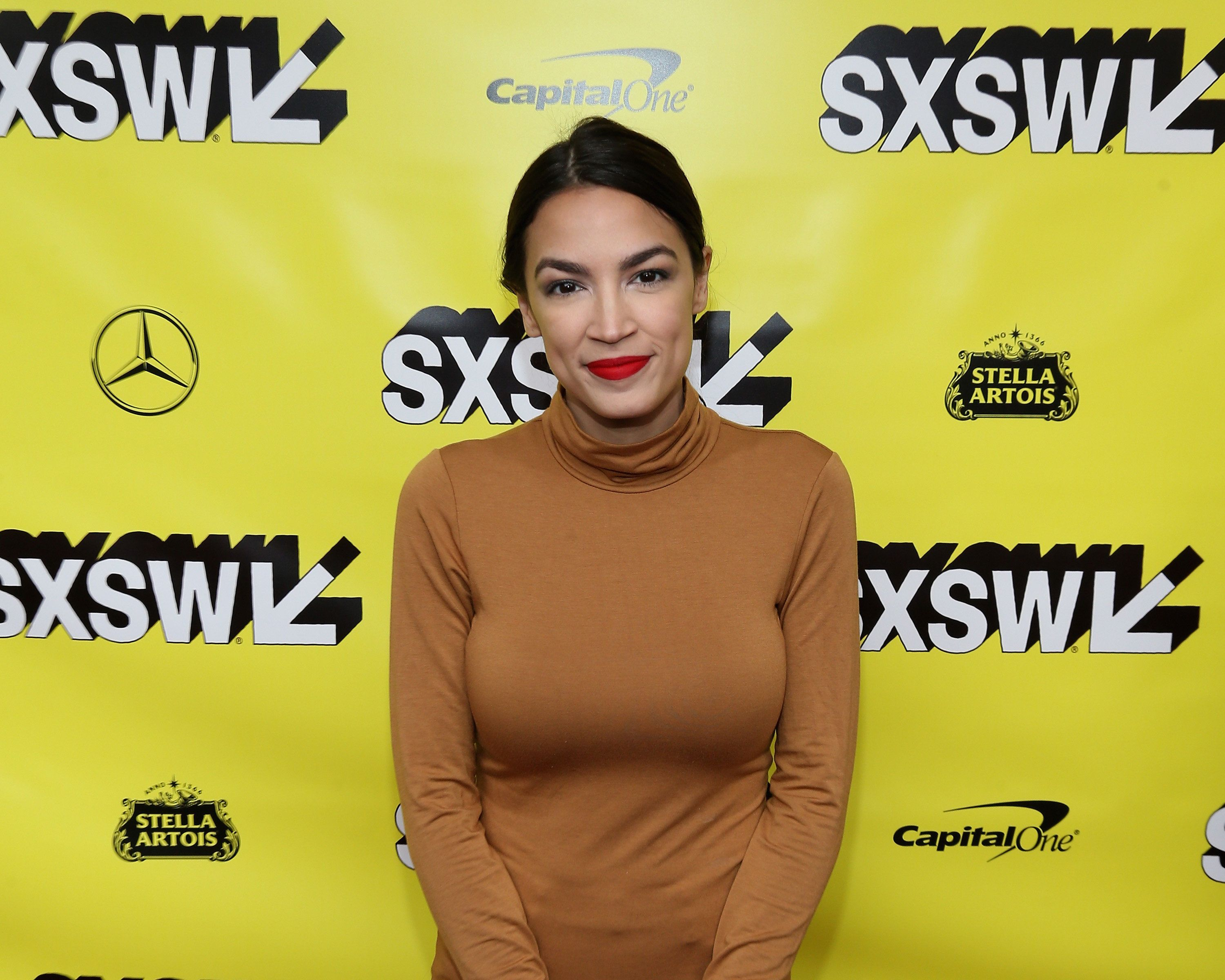 AUSTIN, TEXAS - MARCH 10:  Alexandria Ocasio-Cortez attends the 'Knock Down The House' Premiere during the 2019 SXSW Conference and Festival at the Paramount Theatre on March 10, 2019 in Austin, Texas.  (Photo by Gary Miller/FilmMagic)
