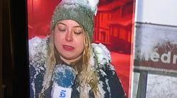 Las redes se solidarizan con esta reportera tras su error en pleno