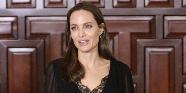 Angelina Jolie durante su visita a