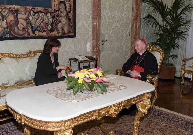 Calvo y el secretario de Estado de la Santa
