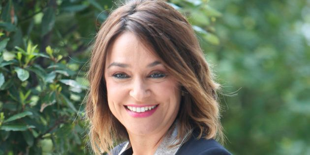 La presentadora 'Toñi Moreno', durante la celebración del primer aniversario de 'Viva la