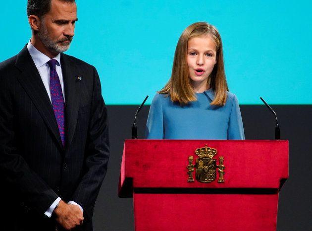 Leonor se estrena en su primera intervención pública como princesa de