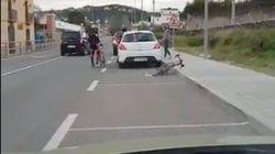 Un ciclista profesional publica este vídeo y provoca la indignación de