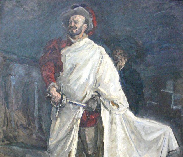 Don Juan desenvainando la espada en Don Giovanni de Mozart; cuadro de Max