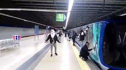 Un maquinista de MetroMadrid sufre una crisis de ansiedad tras ser obligado por grafiteros a mover el tren para