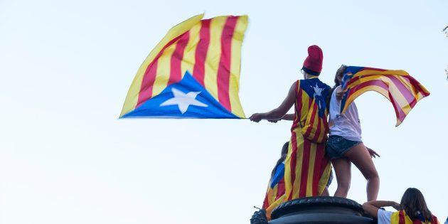 Celebración de la Diada en Cataluña, en una imagen de