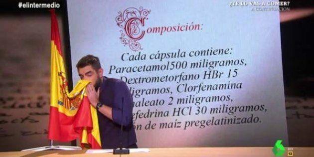 Dani Mateo, en el 'sketch' de la bandera de España de 'El