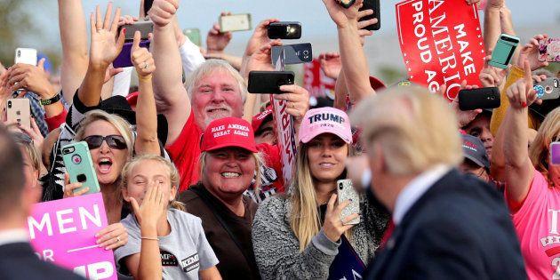 El presidente de EEUU, Donald Trump, durante un acto de