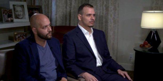 Abdullah y Salah Khashoggi, durante su entrevista con la