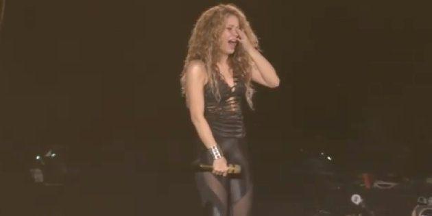 La cantante Shakira, en un concierto en