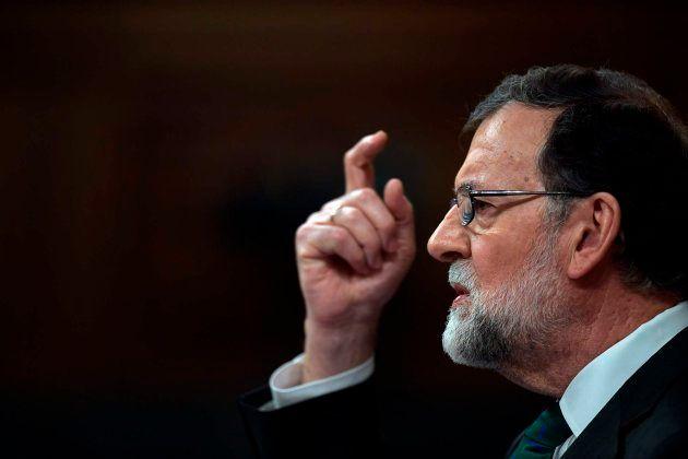 Mariano Rajoy interviene durante el debate sobre la