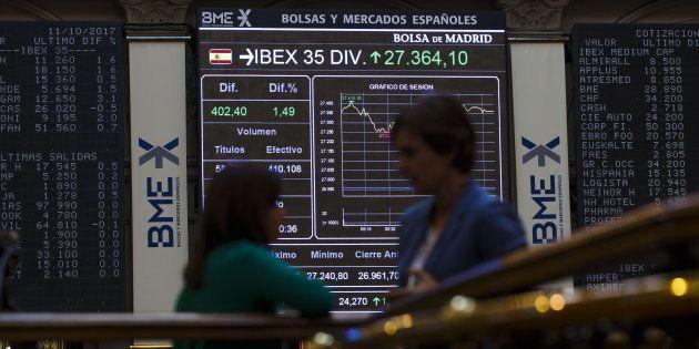 La Bolsa de Madrid en una imagen de
