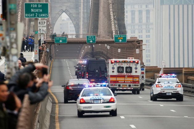 A motorcade believed to be transporting Joaquin Guzman the Mexican drug lord known as