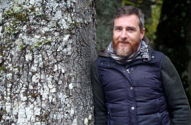 Alex Gesse, en el Hayedo de Montejo