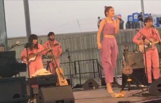 El aplaudido gesto de Amaia en su concierto en el Primavera