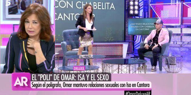 Ana Rosa durante la emisión de su programa este