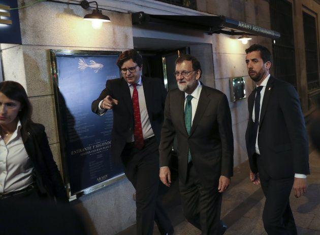 Mariano Rajoy abandona el